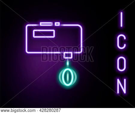 Glowing Neon Line Electric Mixer Icon Isolated On Black Background. Kitchen Blender. Colorful Outlin