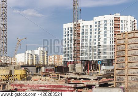 Formwork For Monolithic Construction Of Buildings. Monolithic Construction Technology. Construction