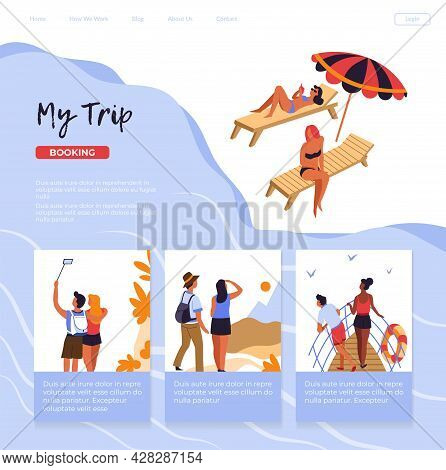 My Trip, Travel Agency Assortment Of Tours Website