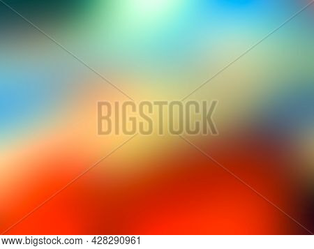 A Gradient Background. Colorful Gradient Background. Abstract Orange And Yellow Gradient Background.