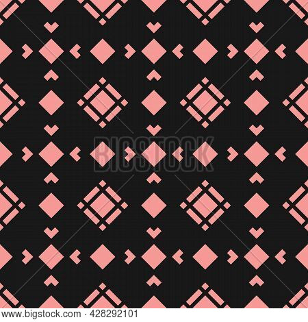 Vector Geometric Texture With Diamond Shapes, Rhombuses, Squares. Abstract Modern Seamless Pattern.