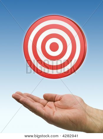 Hand And Target Blue