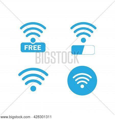 Wireless And Wifi Icons. Wireless Network Symbol Wifi Icon. Wireless And Wifi Vector