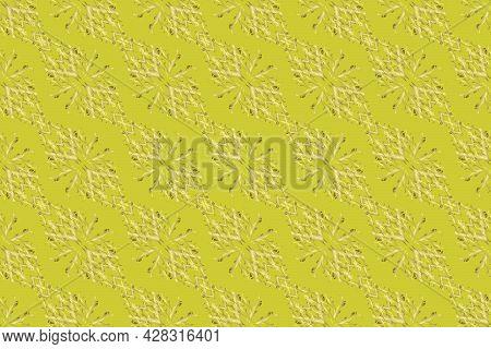 Openwork Delicate Golden Pattern. Golden Texture Curls. Brilliant Lace, Stylized Flowers, Paisley. R