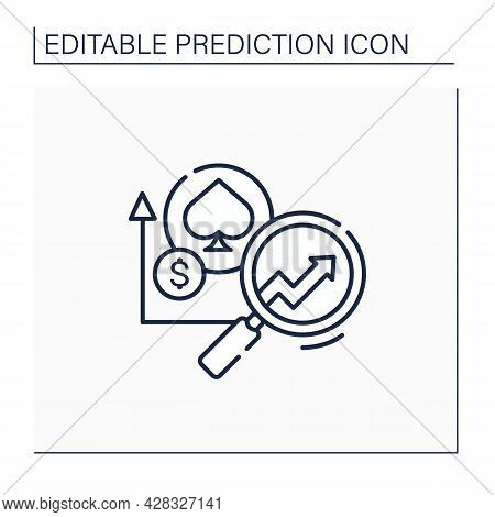 Casinos Predictive Analytics Line Icon. Data Tracking And Personalized Gaming. Enhance Profit Margin