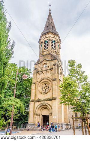 Brive La Gaillarde, France - June 22,2021 - View At The Church Of Saint Sernin In Brive La Gaillarde