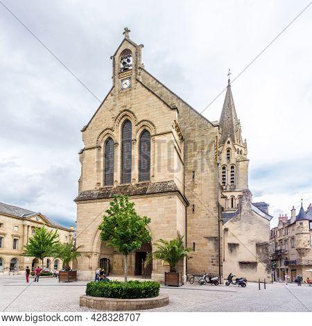 Brive La Gaillarde, France - June 22,2021 - View At The Church Of Saint Martin In Brive La Gaillarde
