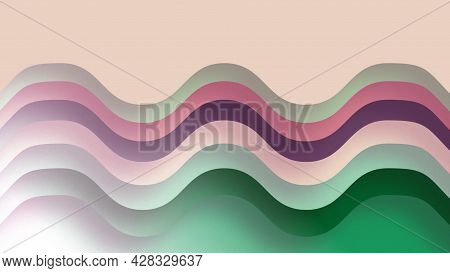 Abstract Color Background With Layers. Motion. Beautiful Multi-colored Layers Change Colors Of Backd