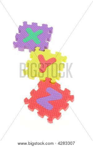 Colorful Xyz Puzzle Blocks