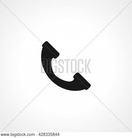 Phone Handset Icon. Phone Handset Simple Vector Icon. Phone Handset Isolated Icon.