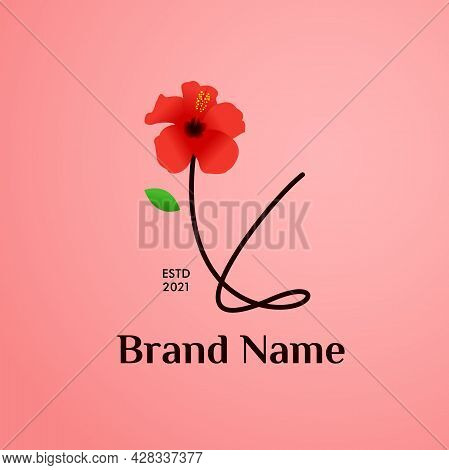 Beauty And Charming Simple Illustration Logo Design Initial Y Combine With Shoe Flower.