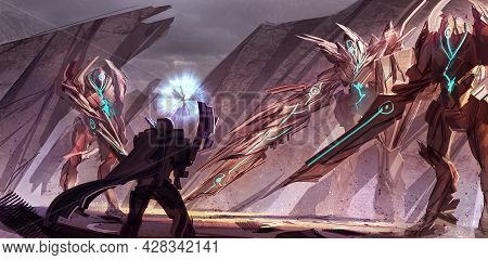 2d Digital Illustration Environment Design Concept Of Fantasy Fictional Adventure Traveler Warrior S