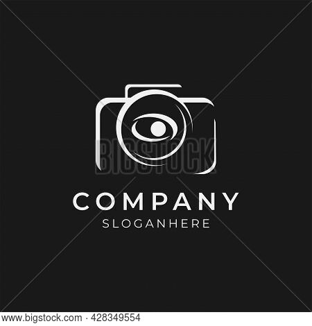 Vector Illustration Of Creative Photography Logo With Eye Lens Illustration Perfect For Photographer