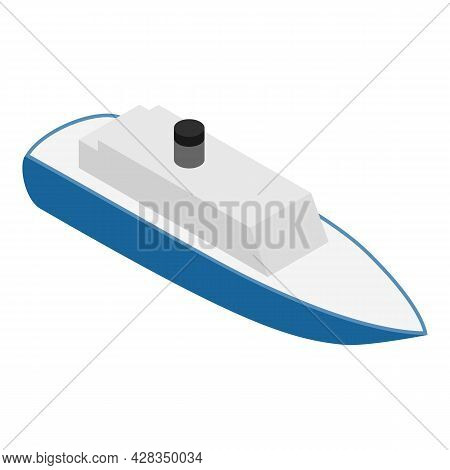 Steamboat Icon Isometric Vector. Steamship, Cruise Boat Icon. Cruise Ship, Water Transport