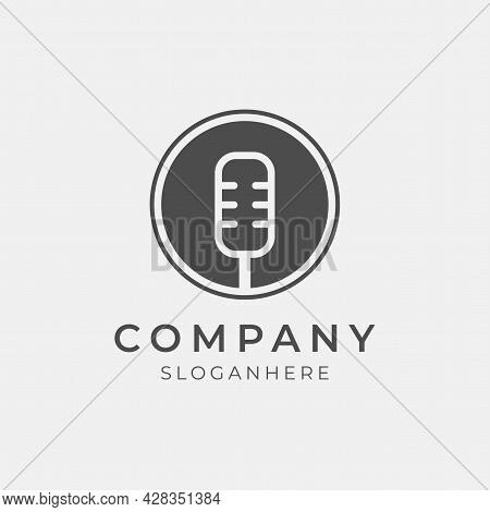 Vector Illustration Of Modern Podcast Logo Design Perfect For Podcast Media Company