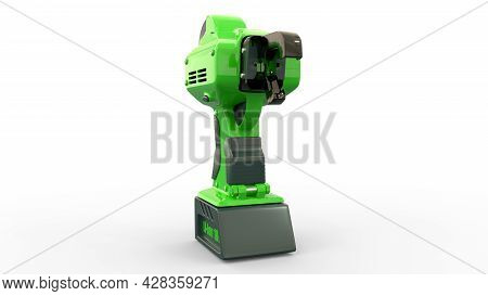 Electric Rebar Wire Tier Tool, Isolated Cg Industrial 3d Illustration