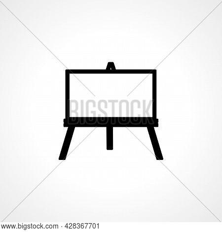 Art Canvas Icon. Art Canvas Simple Vector Icon. Art Canvas Isolated Icon.