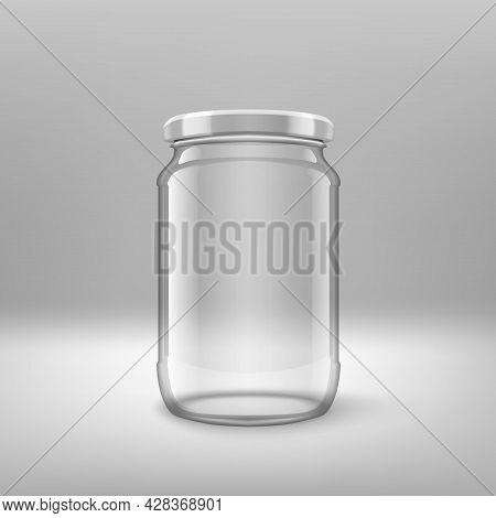 Big Glossy Glass Jar With White Lids