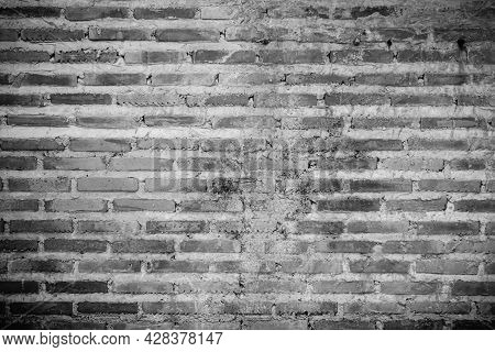 Old Brick Wall Texture Shabby Grunge Texture Weathered Stained Old Stucco Black And Painted Black Br