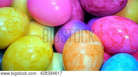 Painted Easter Eggs, Beautiful Background, Eggs, Easter
