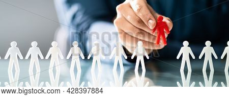 Ideal Client Or Job Candidate. Recruitment And Profile Selection Concept