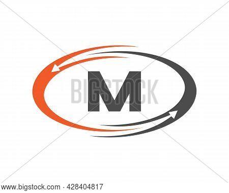 Technology Logo Design With M Letter Concept. M Letter Technology Logo