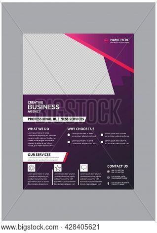 Professional Creative Business Flyer Design Template Vector