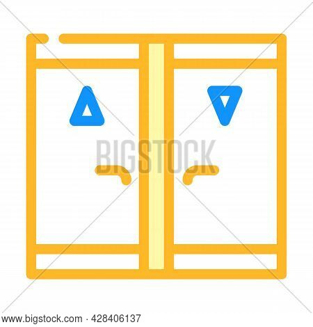 Toilet Room Color Icon Vector. Toilet Room Sign. Isolated Symbol Illustration