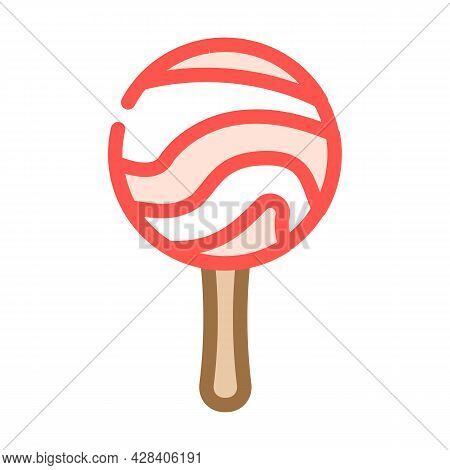 Lollipop Dessert Color Icon Vector. Lollipop Dessert Sign. Isolated Symbol Illustration