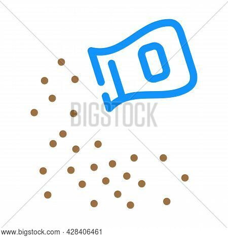 Ashes Of Deceased Color Icon Vector. Ashes Of Deceased Sign. Isolated Symbol Illustration