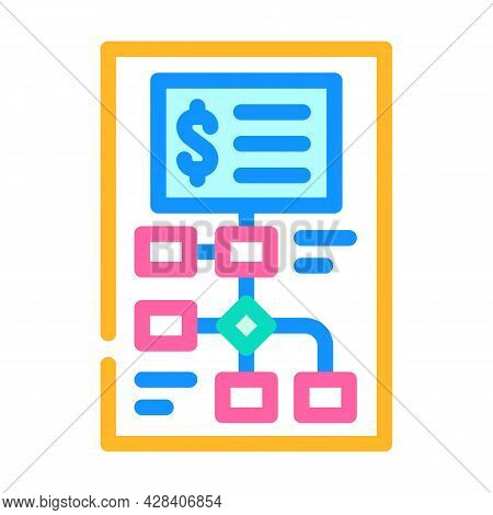 Startup Investment Analysis Color Icon Vector. Startup Investment Analysis Sign. Isolated Symbol Ill