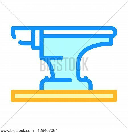 Anvil For Forging Metal Color Icon Vector. Anvil For Forging Metal Sign. Isolated Symbol Illustratio