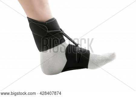 Orthopedic Ankle Brace For Sagging Foot. Medical Ankle Bandage. Support Strap Adjustable Wrap Bandag