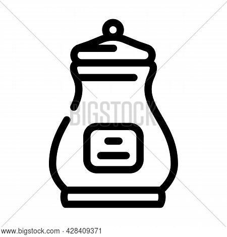 Burial Urn Line Icon Vector. Burial Urn Sign. Isolated Contour Symbol Black Illustration
