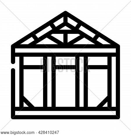 Steel Structure Line Icon Vector. Steel Structure Sign. Isolated Contour Symbol Black Illustration