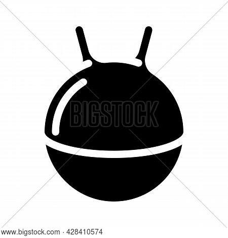 Spherical Tool For Jumping Dancer Training Tool Glyph Icon Vector. Spherical Tool For Jumping Dancer