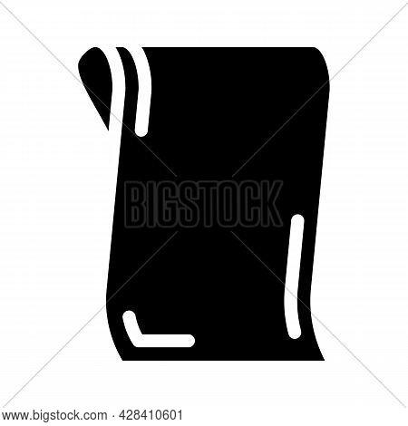 Napkin For Dancer Glyph Icon Vector. Napkin For Dancer Sign. Isolated Contour Symbol Black Illustrat