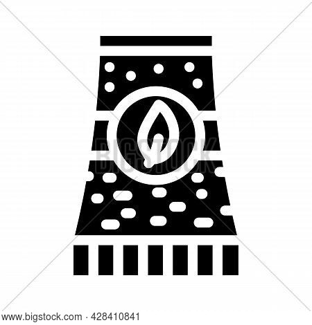 Bio Energy Plant Tube Glyph Icon Vector. Bio Energy Plant Tube Sign. Isolated Contour Symbol Black I