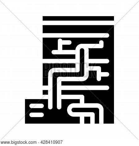 Eco Energy Scheme Glyph Icon Vector. Eco Energy Scheme Sign. Isolated Contour Symbol Black Illustrat