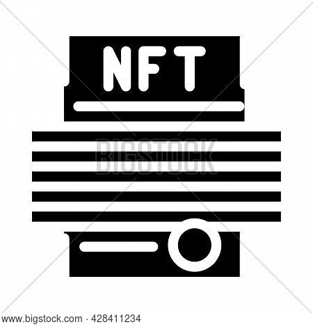 Smart Nft Contract Glyph Icon Vector. Smart Nft Contract Sign. Isolated Contour Symbol Black Illustr