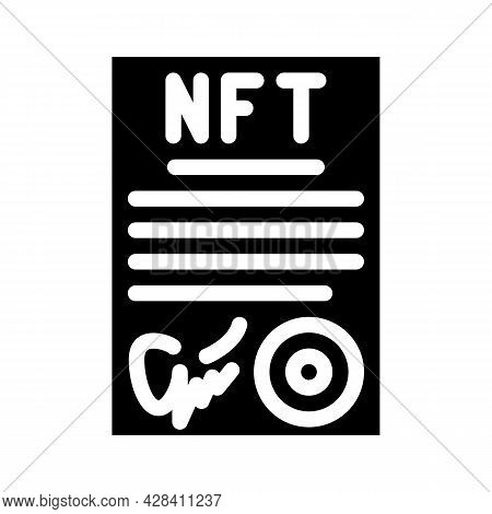 Approved Virtual Nft Contract Glyph Icon Vector. Approved Virtual Nft Contract Sign. Isolated Contou