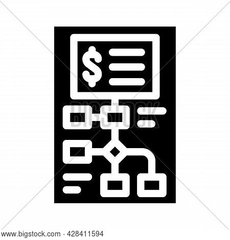 Startup Investment Analysis Glyph Icon Vector. Startup Investment Analysis Sign. Isolated Contour Sy