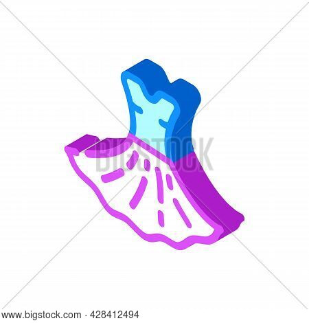 Dress Dancer Isometric Icon Vector. Dress Dancer Sign. Isolated Symbol Illustration