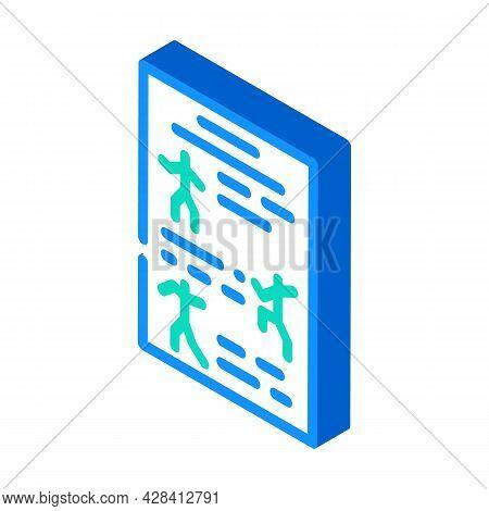 Instruction Dancer Isometric Icon Vector. Instruction Dancer Sign. Isolated Symbol Illustration