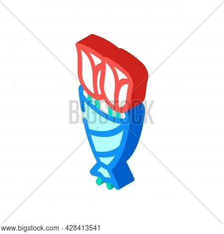 Funeral Two Flowers Isometric Icon Vector. Funeral Two Flowers Sign. Isolated Symbol Illustration