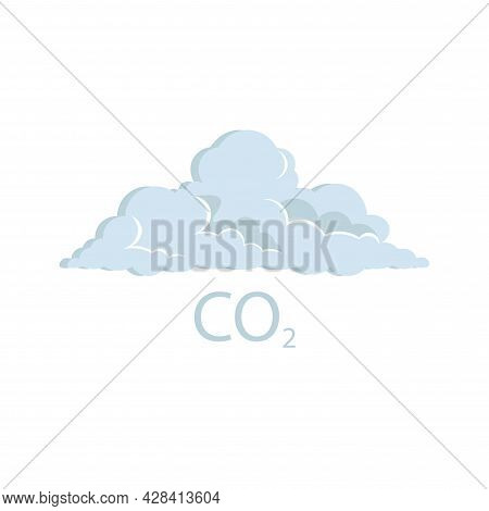 Co2 Icon , Carbon Dioxide Clipart. Carbon Dioxide Simple Vector Clipart.