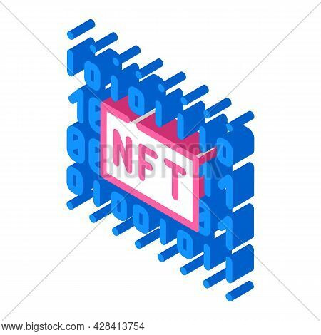 Nft Code Isometric Icon Vector. Nft Code Sign. Isolated Symbol Illustration