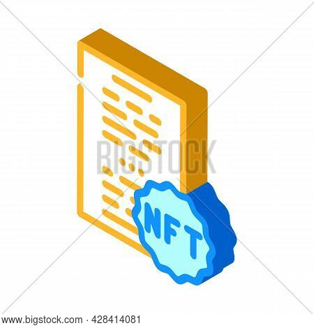 Nft And Poetry Isometric Icon Vector. Nft And Poetry Sign. Isolated Symbol Illustration