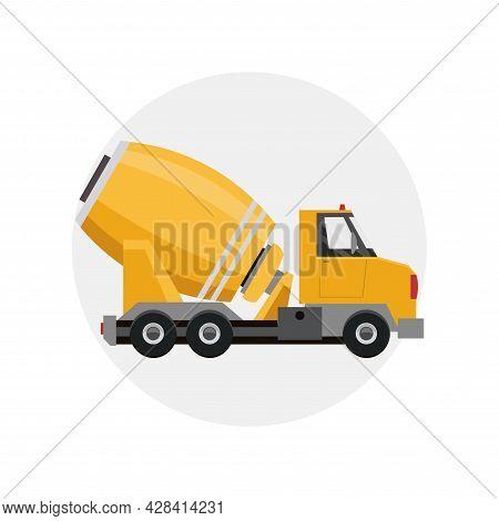 Concrete Mixer Truck Clipart. Concrete Mixer Truck Simple Vector Clipart.