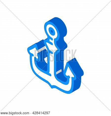 Anchor Ship Pirate Isometric Icon Vector. Anchor Ship Pirate Sign. Isolated Symbol Illustration